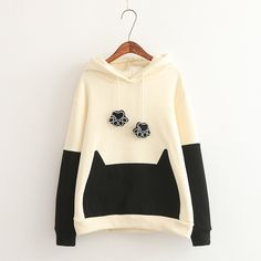 Style: Sweet Made of: Cotton size: one size Color classification: black, red Shoulder 47cm Bust 112cm Sleeve 59cm Length 62cm