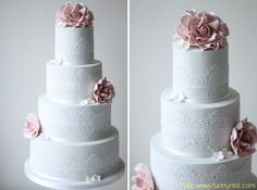 25 Lace Wedding Cake Ideas by http://www.funnynlol.com/creative/25-lace-wedding-cake-ideas