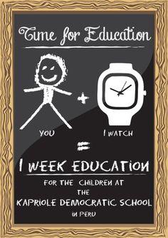 You + F(ph)resh = 1 week education  #watches #design #social-brand #Freshwatch #fresh #Charity #Humanity