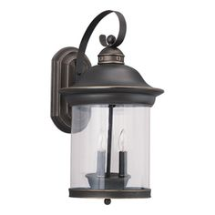 Sea Gull Lighting Hermitage 20.75-in H Antique Bronze Outdoor Wall Light