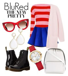 """""""BluRed"""" by andreolam on Polyvore featuring Boutique Moschino, Dr. Martens, Thierry Lasry, STELLA McCARTNEY, Trina Turk, Fendi and By Malene Birger"""