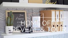 Industrial home office tour. Monochrome and wood decor ideas for a small home office.