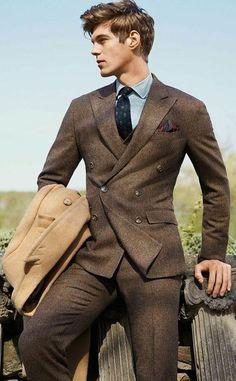 71e5eb26cd3 Classy Men s Brown Suit Modern Suits