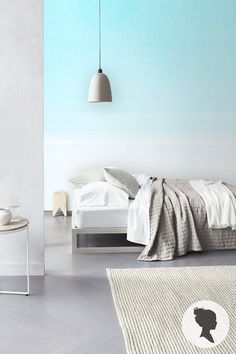 Ombre peel and stick wallpaper, by Livettes. Find it on Etsy: https://www.etsy.com/listing/187781599/ombre-peel-and-stick-removable-wallpaper?ref=shop_home_active_6