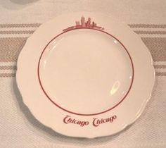 Syracuse-China-Plate-Chicago-Chicago-Illinois-City-Skyline-Red-Restaurantware