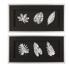I pinned this 2 Piece Shimmer Leaf Wall Art Set from the Look of Fall event at Joss and Main!