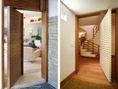 porta de entrada de madeira com acabamento ondulado blog assim eu gosto