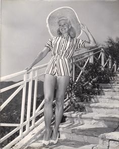 Ginger Rogers in her backyard-photo was used to advertise Teenage Rebel