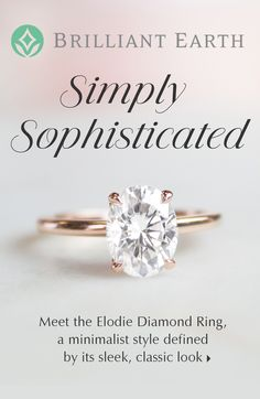 This elegant solitaire features an open basket with claw prongs that cradle the center gem. The petite band adds to the sleek, classic look of this ring. Yellow Engagement Rings, Princess Cut Engagement Rings, Engagement Ring Styles, Solitaire Engagement, Wedding Engagement, Wedding Rings, Jad, Dream Ring, Diamond Are A Girls Best Friend