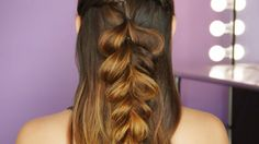 This half up fishtail braid is effortlessly flawless.