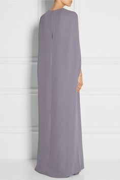 Valentino | Cape-back silk-cady gown | NET-A-PORTER.COM