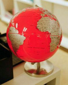 pink and gold Globe Art, Map Globe, Vintage Globe, Vintage Maps, World Globes, We Are The World, Map Art, Favorite Color, Display