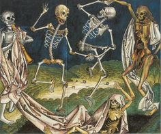 Morbid Anatomy: Danse Macabre and Santa Muerte (Saint Death!) in Week Devoted to Anthropomorphized Death at London's Morbid Anatomy Lecture Series at The Last Tuesday Society Artist Michael Landy