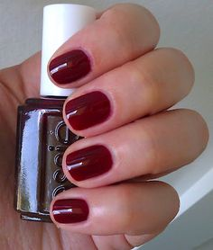 "Essie ""Lacy Not Racy"" = oxblood"