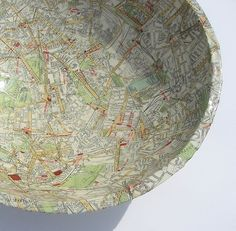 40's London Map Bowl.