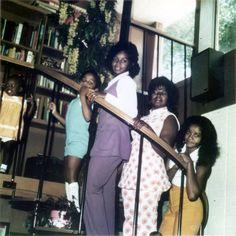 The Jackson Ladies from L-R - Janet, Rebbie, Katherine, and La Toya Jackson.