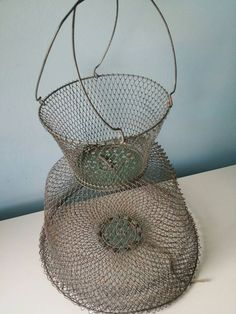 Hey, I found this really awesome Etsy listing at https://www.etsy.com/listing/270057348/french-wire-fish-net-metal-fish-basket