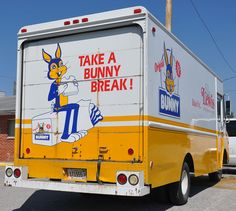A delivery truck in Anna, IL at the Home of Bunny Bread.