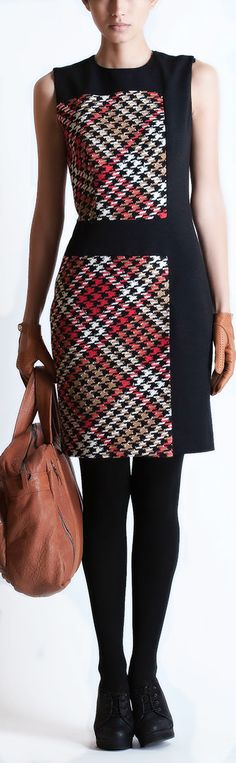 Martin Grant ● Houndstooth Dress, could make by modifying V1329