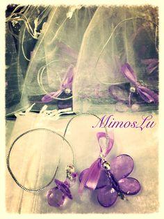 Marcadores de livro de borboletas e chupetinhas para lembrancinha de nascimento! Www.mimoslu.com.br