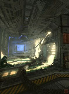Abandoned Spacestation by ~Hideyoshi on deviantART