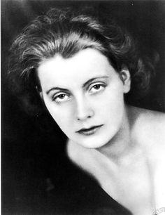 Greta Garbo at age 18, photographed by Olaf Ekstrand,...