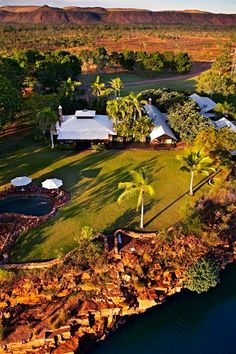 The luxury of El Questro Homestead sits in stark contrast to Western Australia's rugged Kimberley landscape. The small luxury resort just over 100 kilometres from Kununurra.