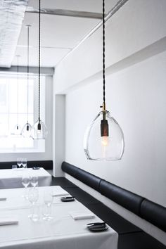 Sm is Unika is a mouth-blown glass pendant lamp, originally designed for Restaurant Grønbech and Churchill in Copenhagen. Blown Glass Pendant Light, Glass Pendants, Glass Lamps, Glass Lights, Heart Pendants, Light Pendant, Interior Lighting, Lighting Design, Luxury Lighting