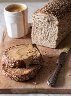 Honey and oat toast with caramel macadamia spread  The Kate Tin