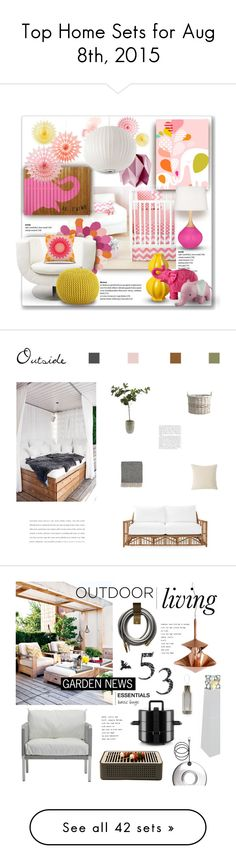 """Top Home Sets for Aug 8th, 2015"" by polyvore ❤ liked on Polyvore featuring interior, interiors, interior design, home, home decor, interior decorating, New Arrivals, Sugarboo Designs, Evive Designs and HARLEQUIN"