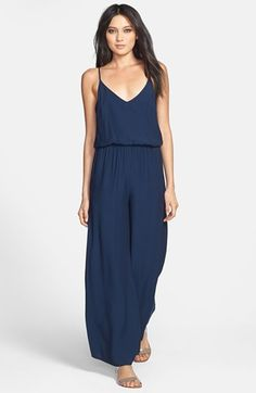 I LOVE this...But Bob said he'll start calling me Marie if i get it. ASTR Elastic Waist Wide Leg Jumpsuit available at #Nordstrom