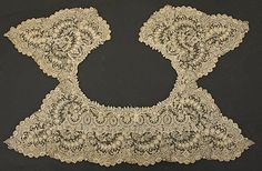 different style of Bertha collar...Belgian...circa late 19th century