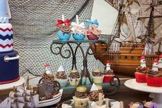 festa náutica, festa marinheiro, festa meninos, navy, festa infantil meninos, temas para festas, decoração mesa de doces, festa 1 ano, boys party