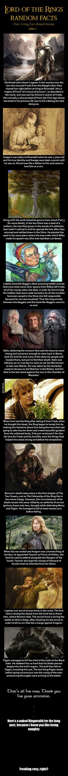 Here are some Lord of the Rings random facts (Part 6)