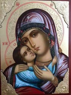 Φωτογραφία Church Icon, Blessed Mother Mary, Religious Icons, Orthodox Icons, Christianity, Mona Lisa, Princess Zelda, Artwork, Fictional Characters