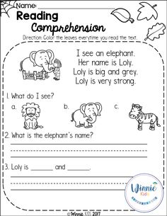 Fall Reading Comprehension is a set of 20 fall themed reading passages for emergent and early readers. Reading Comprehension Worksheets, Reading Fluency, Reading Passages, Kindergarten Reading, Kids Reading, Teaching Reading, Comprehension Strategies, Reading Response, Reading Nooks
