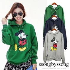 Green Friends Mickey Mouse Hoodie