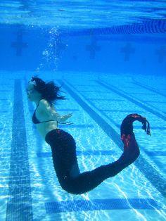 Mermaid tails to swim in. $80.00, via Etsy.