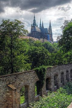 Beautiful Places...Prague Castle, Czech Republic, located in the Hrsdcany district of Prague and dating back to nine century, photo by OneFlameintheFire via Flickr.