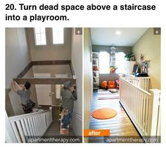 Dead space above stairs