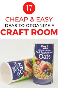Organize your crafting area with these cheap and quick organization tips and hacks. If you love crafting check out these clever storage hacks. #hometalk