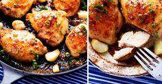 Medovo-česnekové kuře s dijonskou hořčicí do 30 minut              V letních měsících nechce nikdo trávit hodiny u plotny, a proto přijde k ruce recept na kuře s medem, česnekem a dijonskou hořčicí. Do30 minut máte hotovo a můžete si pochutnávat :).  4 porce doba vaření 25 minut  Ingredience  600 g kuřecích prsou nebo vykostěných kuřecích stehenních řízk Russian Recipes, Tandoori Chicken, Treats, Ethnic Recipes, Food, Polish, Sweet Like Candy, Goodies, Vitreous Enamel