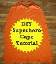 Superhero cape from men's t-shirt - DIY