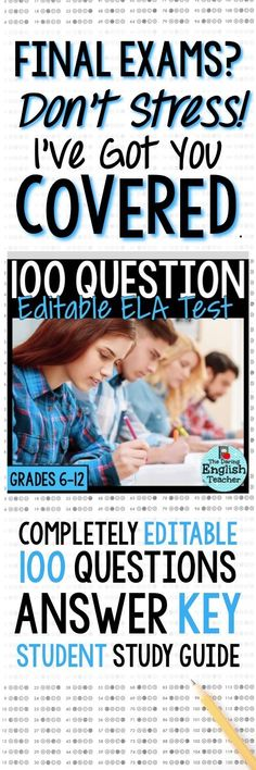 High school English and middle school English final test