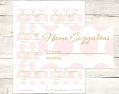 pink gold baby name suggestions tickets by pinkdahliaprintable