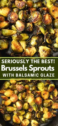 The best Brussels sprouts recipe with balsamic glaze, super easy to make and just perfect for your vegan Thanksgiving and Christmas holiday table. brussel sprouts with balsamic Balsamic Glaze Brussel Sprouts, Baked Brussel Sprouts, Roasted Sprouts, Marinated Brussel Sprouts Recipe, Side Dish Recipes, Vegetable Recipes, Vegetarian Recipes, Healthy Recipes, Recipes