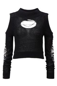 Gallows Destroy Everything Black Knit | Grunge Clothing | KILLSTAR