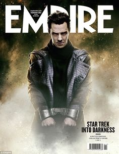 Benedict Cumberbatch looking crazy-awesome on the cover of Empire magazine   Star Trek Into Darkness