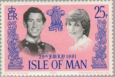 charles and diana  stamps | : Wedding Charles and Diana (Ile de Man) (Wedding Charles and Diana ...