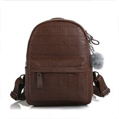 33dfbd3fb9 Herald Fashion Women Backpack Casual Female Student Bag with Tassel Quality  Leather Stone School Bag for